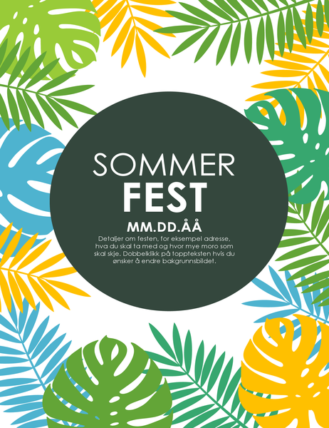 Flygeblad for sommerfest