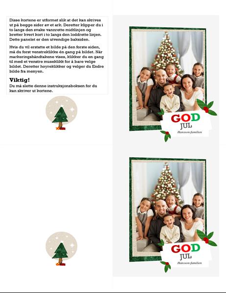 Julekort med fotomontasje
