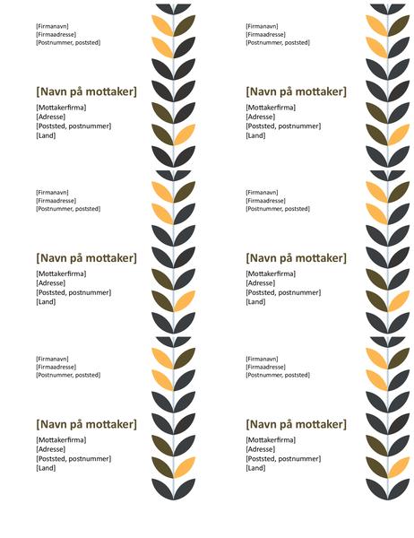 Vinetiketter (6 per side)