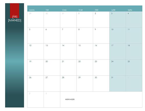 Kalender for alle år