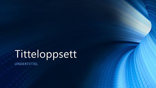 Digital blå tunnel, forretning (presentasjon i bredformat)