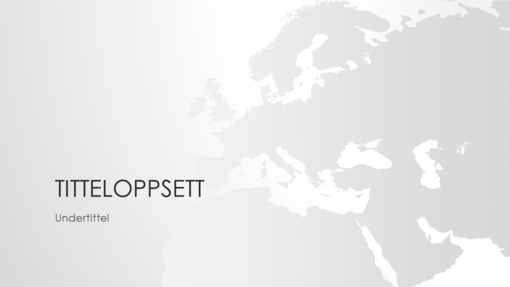 Verdenskartserie, Europa (bredformat)