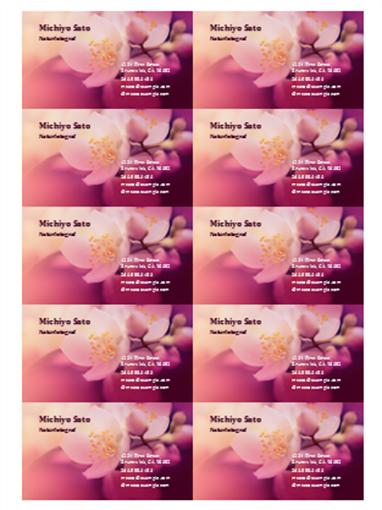 Visittkort (blomsterbilde)