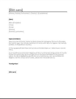 CV-følgebrev