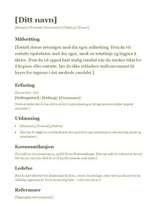CV (grønn)