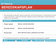 Beredskapsplan for familien