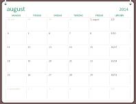 Akademisk kalender for 2014–2015 (august–juli)