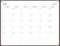Akademisk kalender for 2014–2015 (juli–juni)