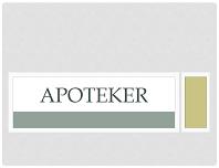 Apoteker