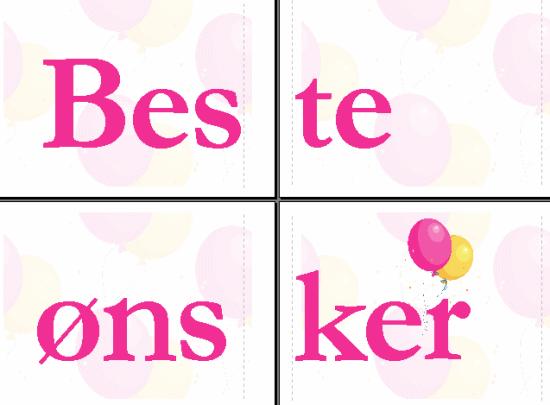 Beste ønsker-banner