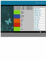 Akademisk kalender for 2011–2012 (mandag til søndag)
