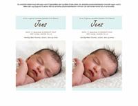 Kort for nyfødt guttebarn