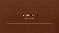 Klassisk bok (bredt format)