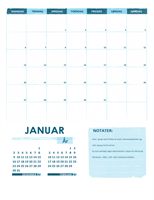 Akademisk kalender M–S (vilkårlig år)