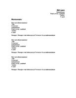 Referanser for CV