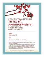 Flygeblad for vårarrangement (med blomstrende gren)