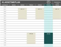Studenttimeplan