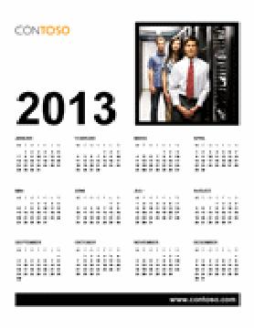 Forretningskalender for 2013 (M-S)