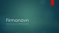 Presentasjon, forretningsplan (blågrønn utforming, widescreen)