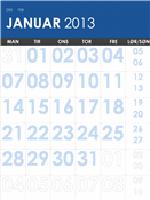 Kalender for 2013-2014, flerfarget (M-Søn)