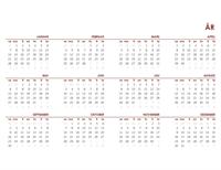 Global kalender for et helt år