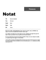 Kontorinternt notat (profesjonell utforming)