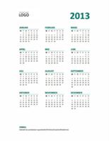 Året i korte trekk – kalender for 2013 (middels til lite format)