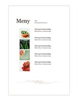 Hendelse-meny (enkel utforming)