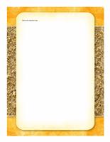 Brevpapir (design med sol og sand)