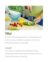 Flygeblad for arrangement