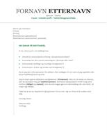 Følgebrev til CV (kronologisk)