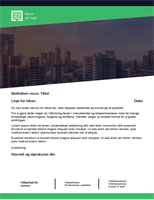 Forretningsbrev (Grønn skog-utforming)
