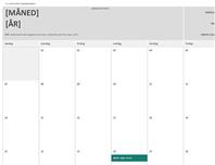 Kalender for hjemmearbeid
