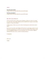 Formelt forretningsbrev