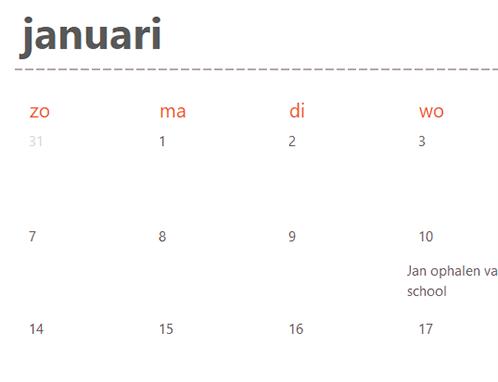 Onglets de calendrier intemporel (blanc)