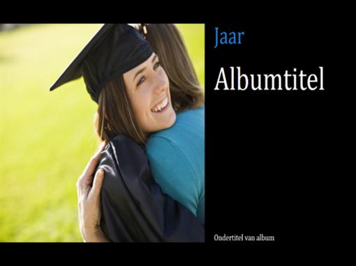Fotoalbum voor diploma-uitreiking, zwart (breedbeeld)