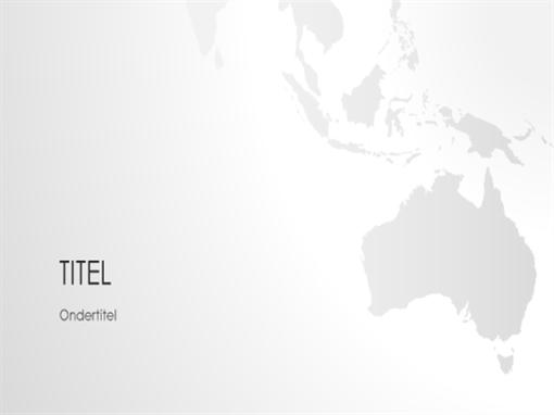 Wereldkaartserie, presentatie van Australië (breedbeeld)