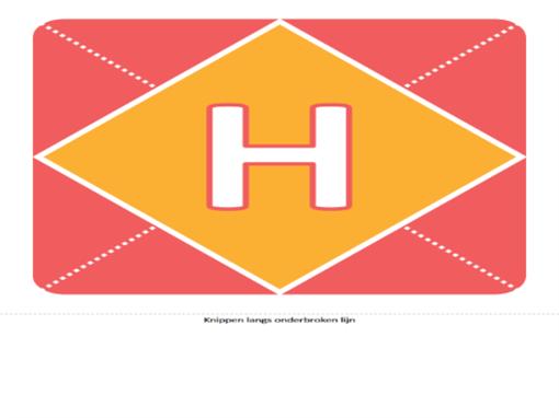 Hoera een meisje-banner (roze, geel, groen)