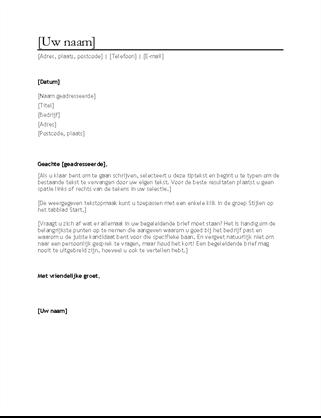 Begeleidende brief bij cv