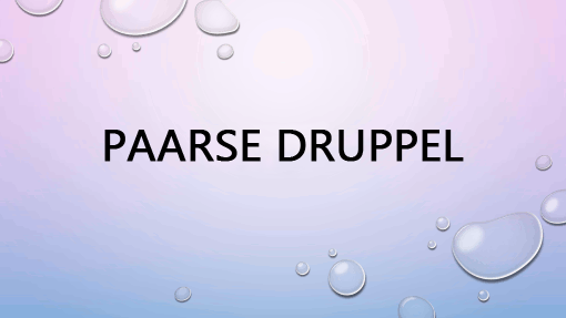 Paarse druppel