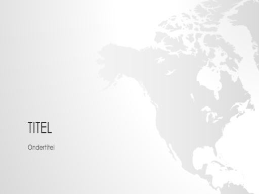 Wereldkaartserie, presentatie van Noord-Amerika (breedbeeld)