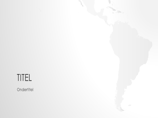 Wereldkaartserie, presentatie van Zuid-Amerika (breedbeeld)