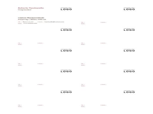 Visitekaartjes met logo (10 per pagina)