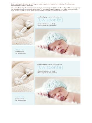 Aankondiging van geboorte van jongetje