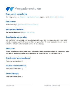 agenda format template