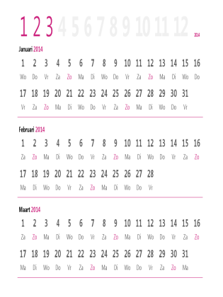 Kwartaalkalender 2014