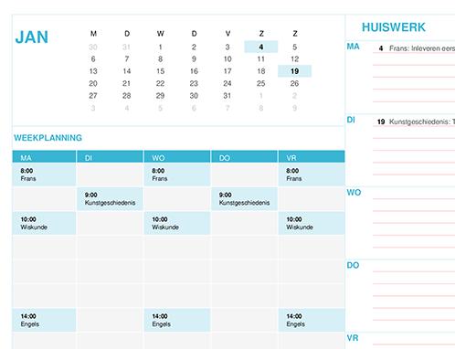 Leerlingenkalender (ma)