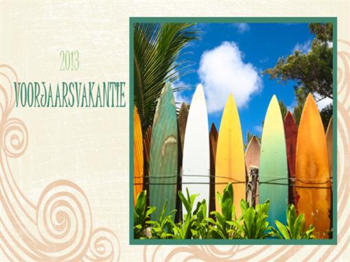 Voorjaarsvakantiealbum (strandontwerp, breedbeeld)