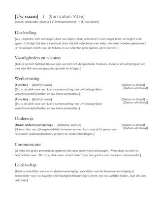 CV (resumé)