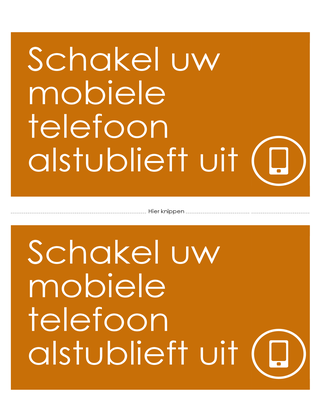 Herinneringsposter voor mobiele telefoon uit (oranje)